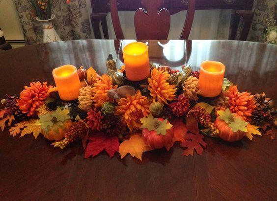 Easy DIY Thanksgiving Decor Ideas on a Budget - Fall Centerpiece #herbstdekotischtablett
