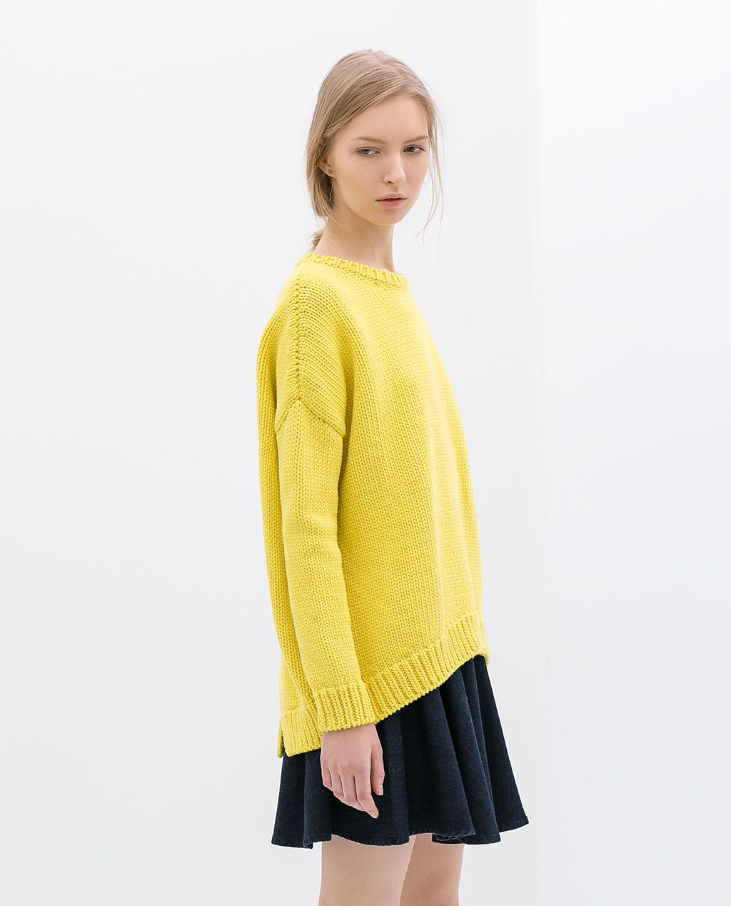 ZARA - WOMAN - OVERSIZE SWEATER | Knitted Garments | Pinterest ...