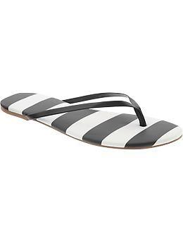 Women's Striped Capri Sandals | Old Navy