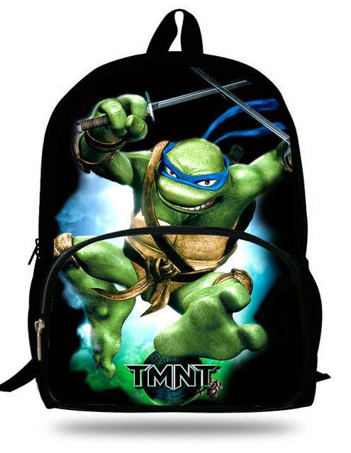 473401b536a8 16-inch Mochila Teenage Mutant Ninja Turtles Backpack Kids Boys Bags  Children School Bags For Teenagers Ninja Turtles Bag