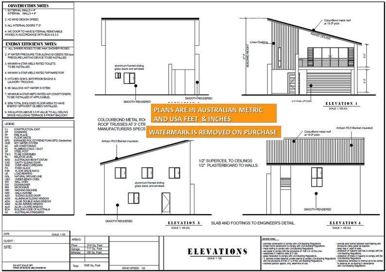 Modern 2 Bedroom Office House Plan 157 5 Affordable Etsy In 2020 Duplex Floor Plans Modern Floor Plans House Plans For Sale
