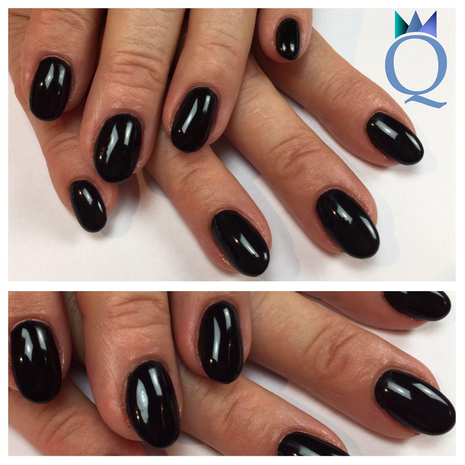 roundnails #gelnails #nails #black #rundenägel #gelnägel #nägel ...