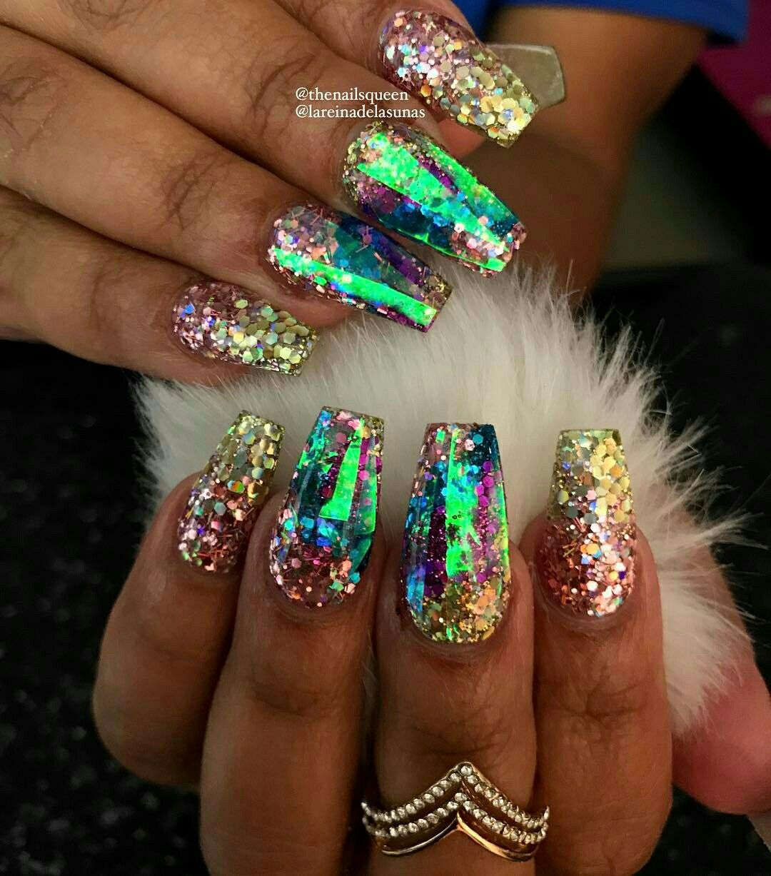 Glowing Irredesicient Nail Art/Design Ideas | Nails | Pinterest ...