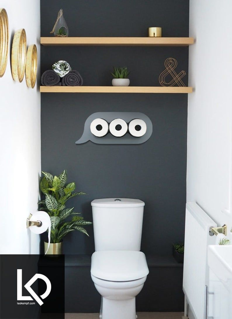 Texting Bathroom Wall Art And Storage En Etsy Art Bathroom Etsy Guest Bathroom Ideas Elega In 2020 Diy Bathroom Storage Small Toilet Room Small Bathroom Decor
