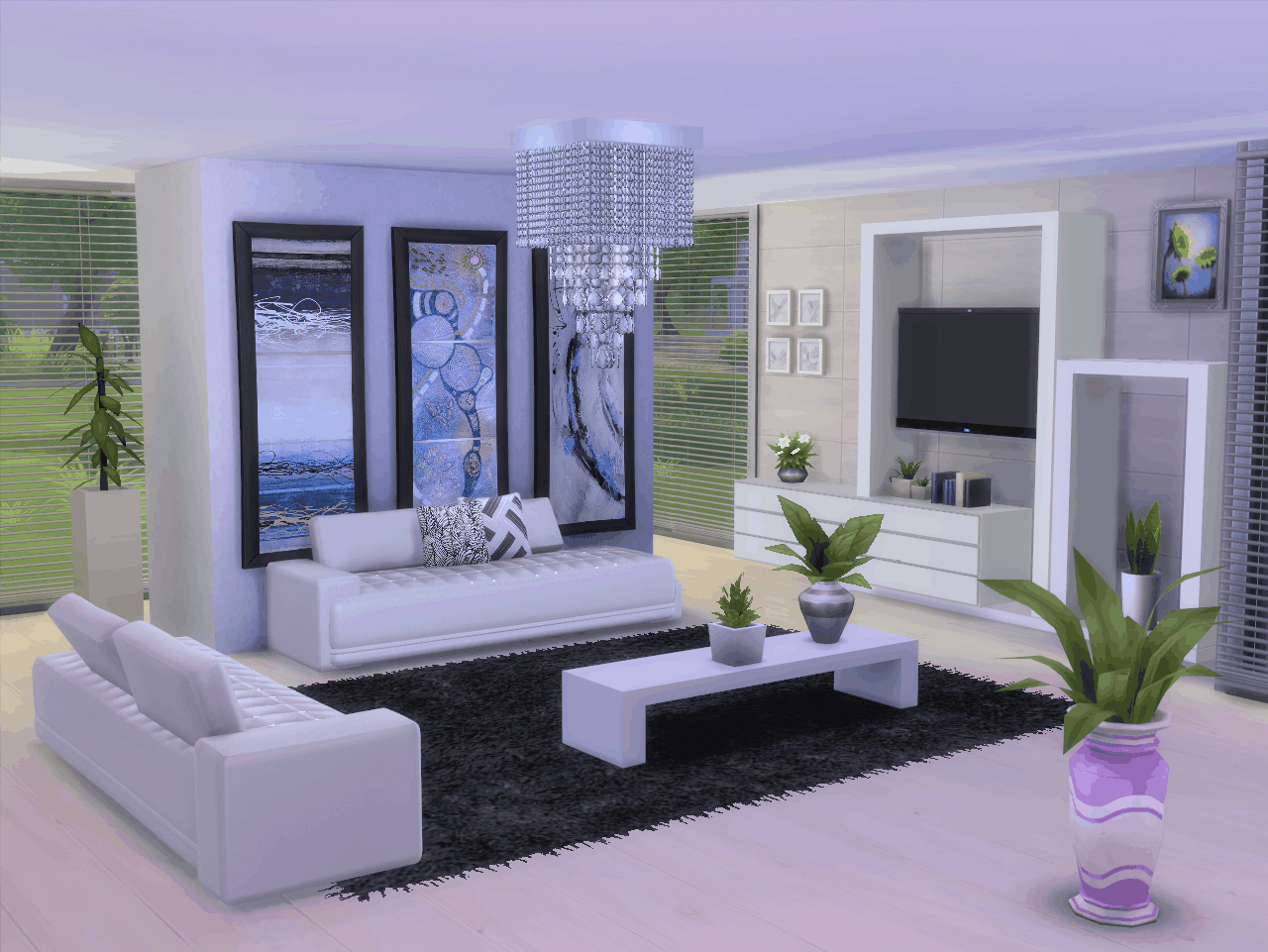 Salon Sims 4 In 2020 Sims House Living Room Sims 4 Sims 4 Cc Furniture Living Rooms