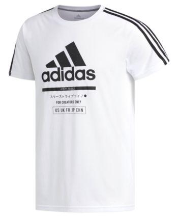 e92c1e726b22 adidas Men's ClimaLite Graphic T-Shirt - White/Black XL | Products ...