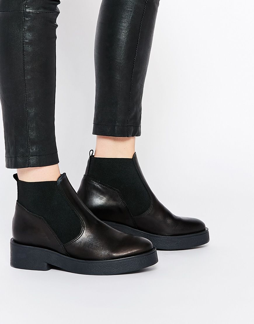 Buy Women Shoes / Asos Airlock Leather Chelsea Boots