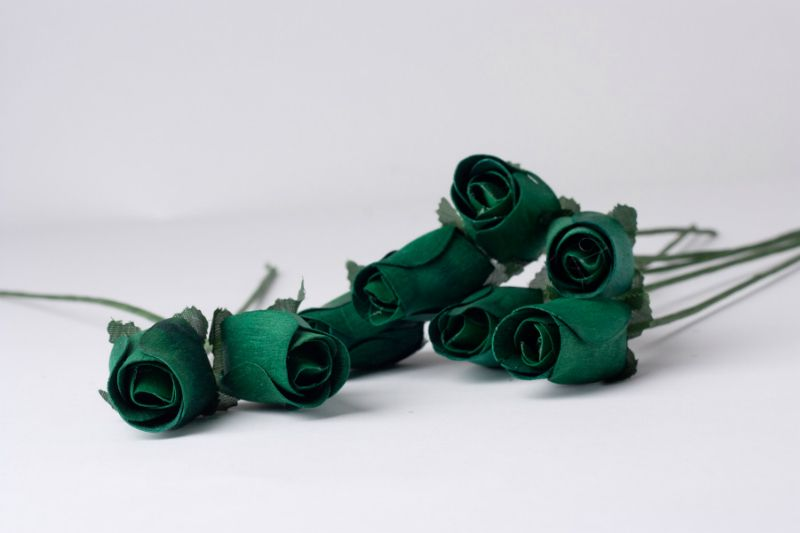 Forest Green Wooden Roses 2
