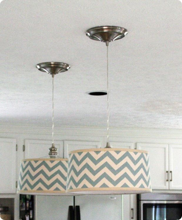 Make Your Own Drum Shade Pendant So Neat Diy Pendant Light Diy Drum Shade Diy Drums