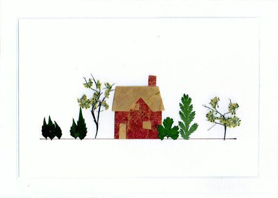 Pressed Flower Tiny House - Autumn