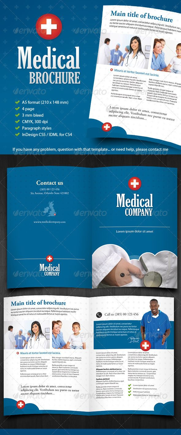 Medical Brochure Informational Brochure Template InDesign INDD - Informational brochure template