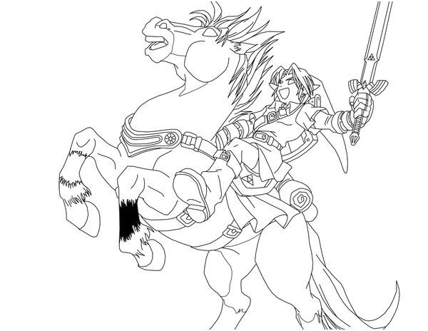 13 Aimable Coloriage Zelda Breath Of The Wild A Imprimer Images