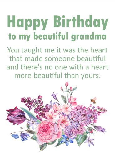 To My Beautiful Grandma