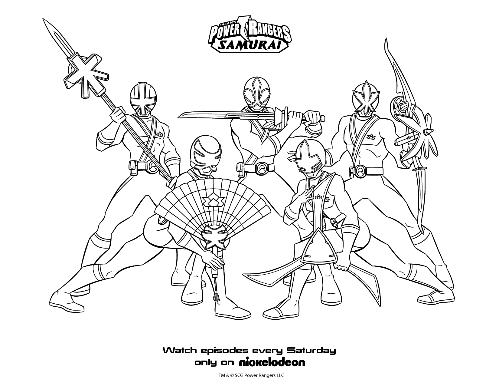 Power Ranger Samurai Coloring Pages