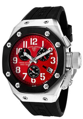 $229.99 FREE SHIPPING SWISS LEGEND Men's Trimix Diver Chronograph Black Silicone 10541-05-BB This Swiss Legend chronograph is a fashion statement all on its own. Its stylish design adds a trendy feel to your collection.