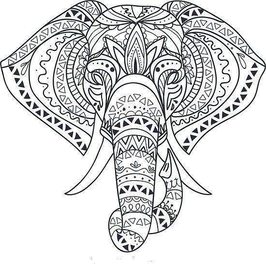 Pin by Shari Duke on R T R | Elephant outline, Mandala ...