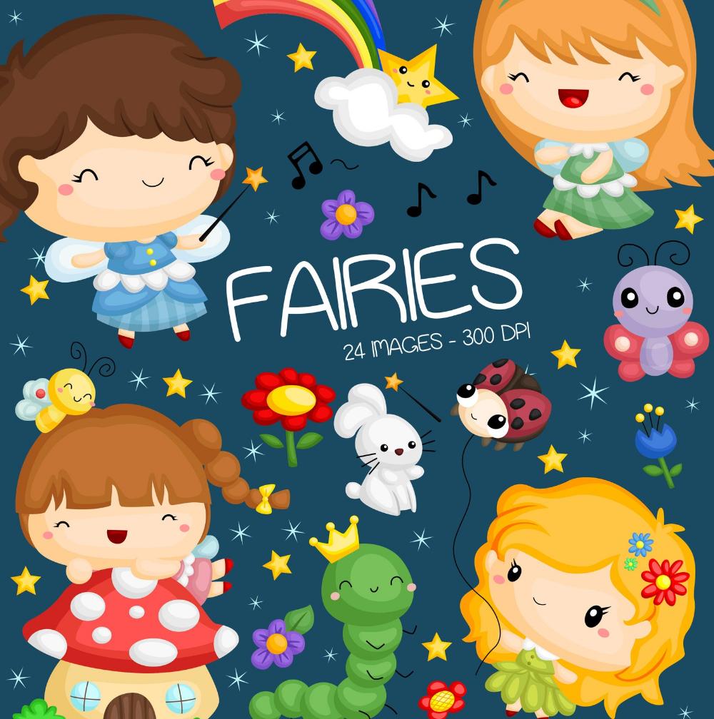 Forest Fairy Clipart Cute Fairy Clip Art Forest Animal Etsy Fairy Clipart Clipart Cute Clip Art