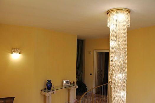 Spirale cristallo spirale cristallo finiture oro 24k altezza 3