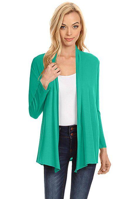 Womens Open Drape Cardigan Reg And Plus Size Cardigan Sweater Long