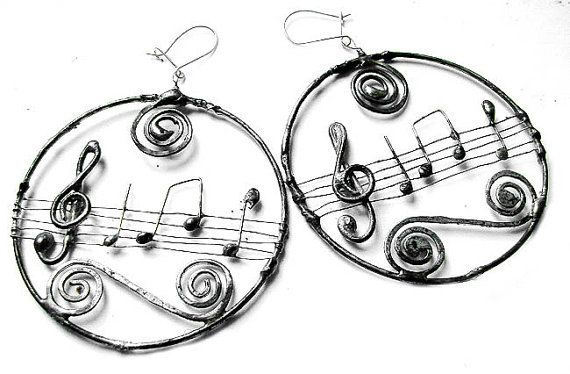 Stairway to Heaven Musical circled earrigs by