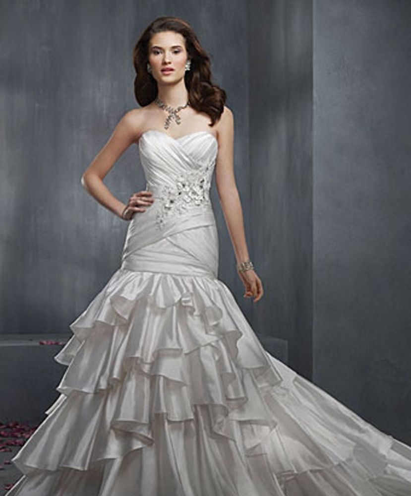 New Alfred Angelo 2303,Fit And Flare, Cathedral Train