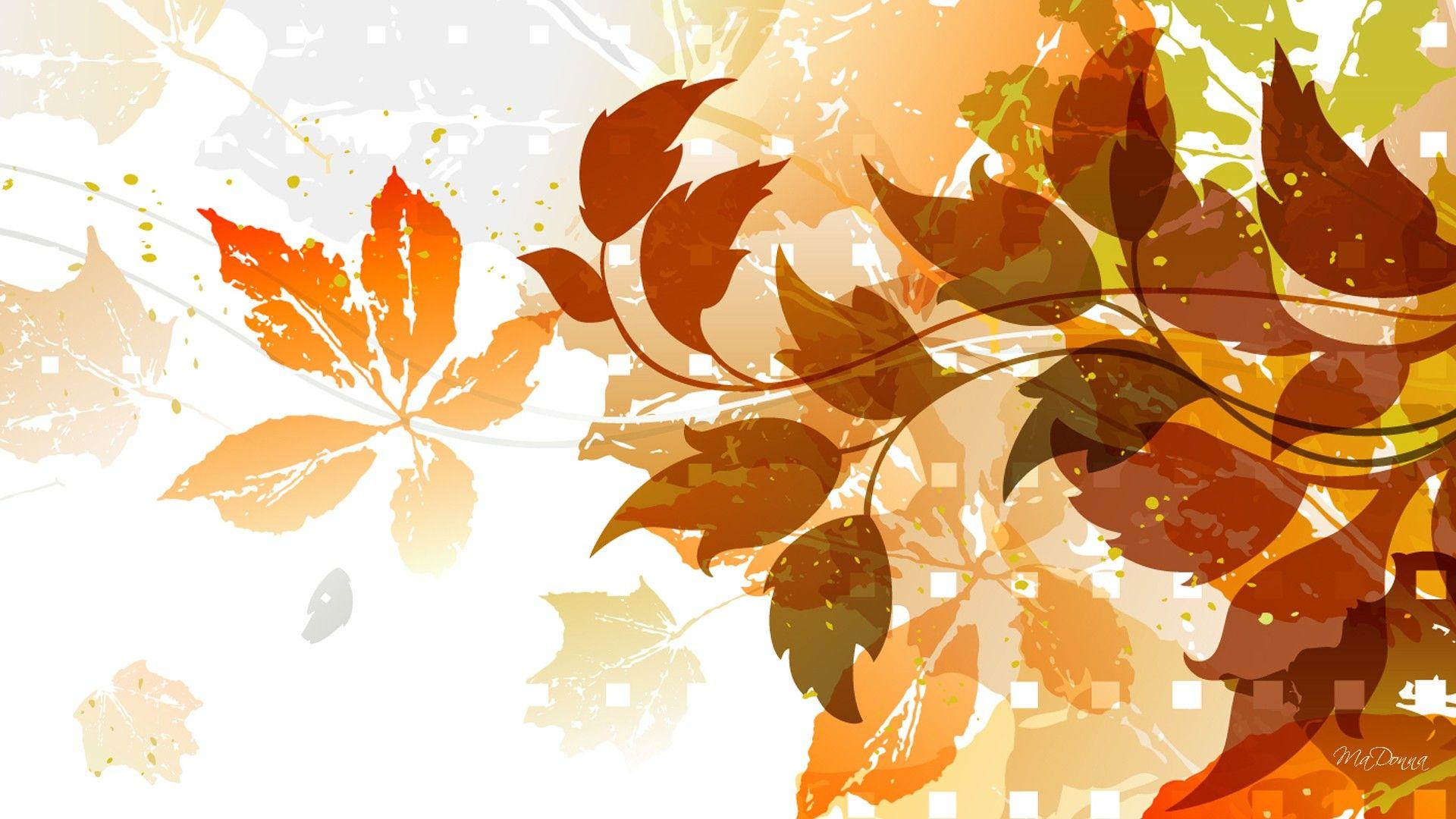 Осенняя картинка вектор