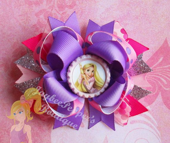 rapunzel hair bow disney princess over the top by