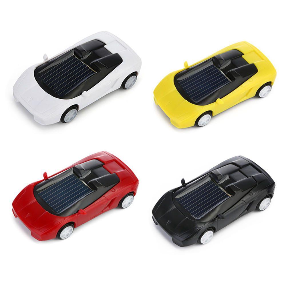 Toys car kids  US Solar Powered Toy Mini Car Kids Gift Super Cute Creative