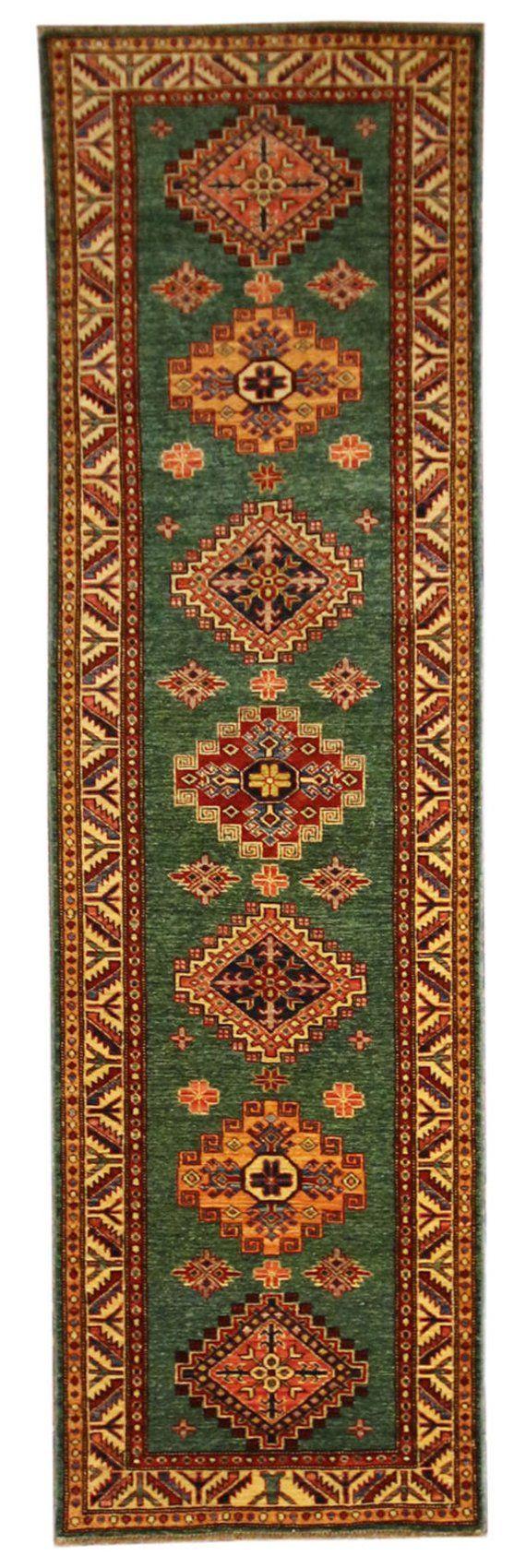 Best 2 6X7 10 Hall Runner Hand Knotted Pakistani Kazak Wool 400 x 300