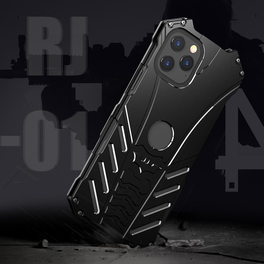 R-Just Batman Shockproof Aluminum Shell Metal Case with Custom Stent for iPhone 7 Plus Samsung S7 Edge – Armor King Case