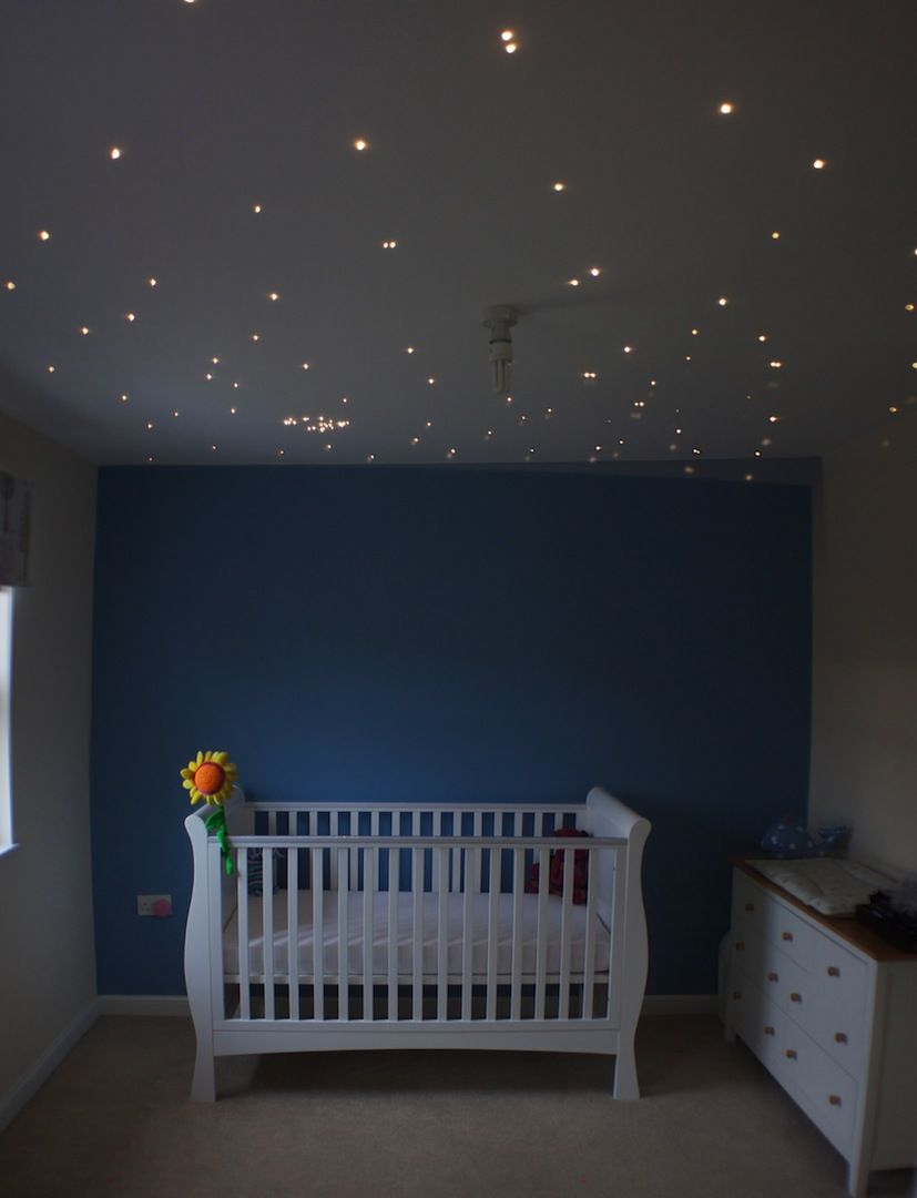 This is our nursery. I created a star ceiling as inspired