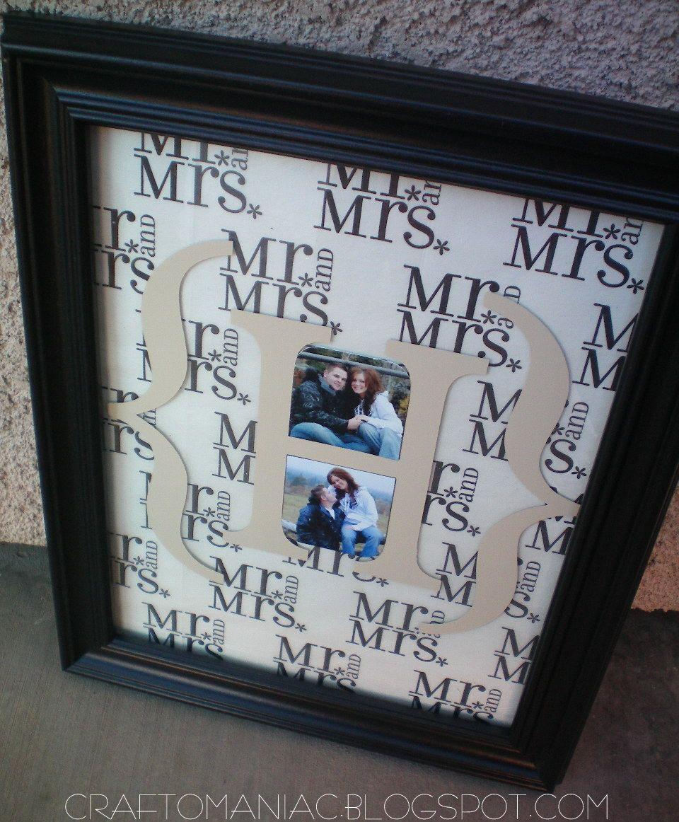 Diy monogrammed wedding gift diy monogram gift crafts and cricut