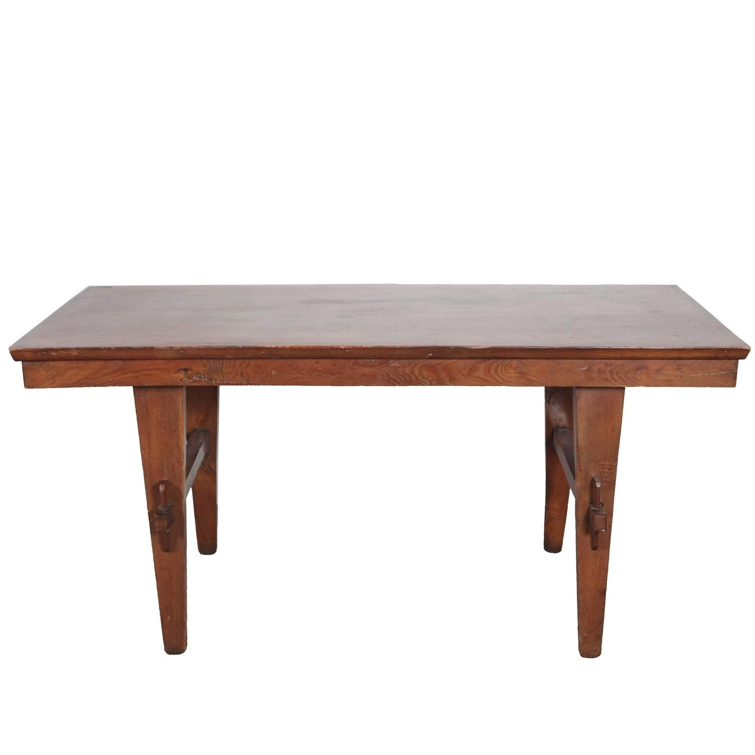 Italian Dining Table with Peg Hold Legs   From a unique collection of antique and modern dining room tables at https://www.1stdibs.com/furniture/tables/dining-room-tables/