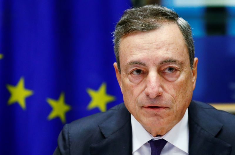 ECB's Draghi points to asset repricing, sudden rate rise