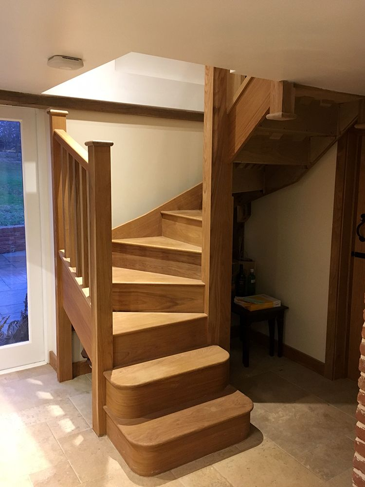 Best A Stunning Double Winder Staircase Manufactured In 640 x 480