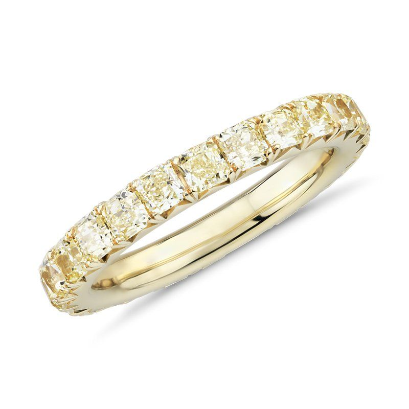 bf3109903f76 French Pave Yellow Diamond Eternity Ring in 18k Yellow Gold (2 ct ...
