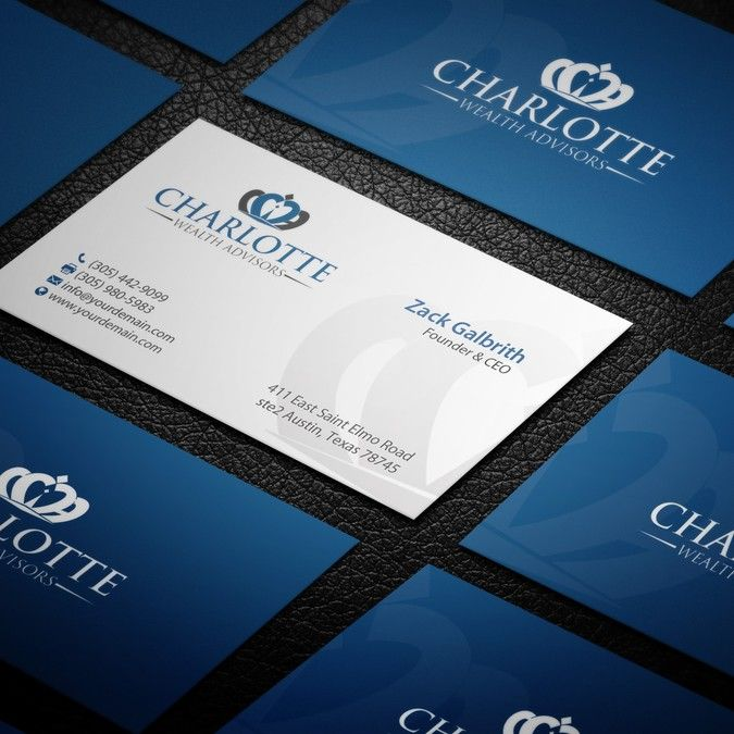 Financial services business card by mary jhon land page design business cards reheart Image collections