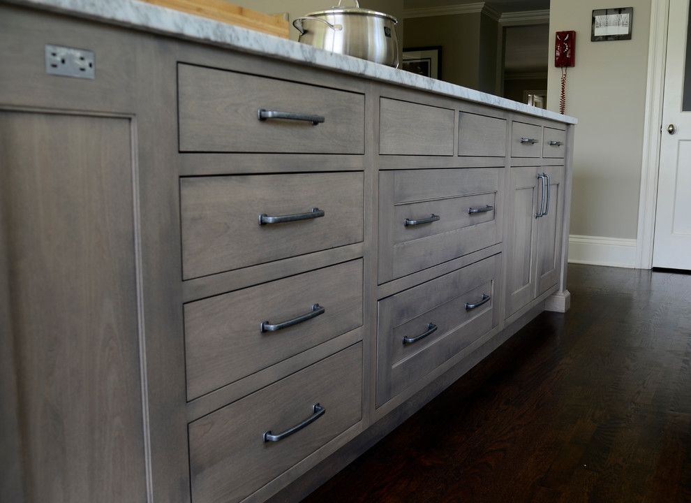 Cabinet Stain Colors Kitchen Transitional With Built-in