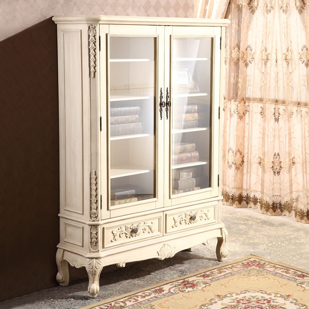 Farmhouse Freestanding Storage China Double Glass