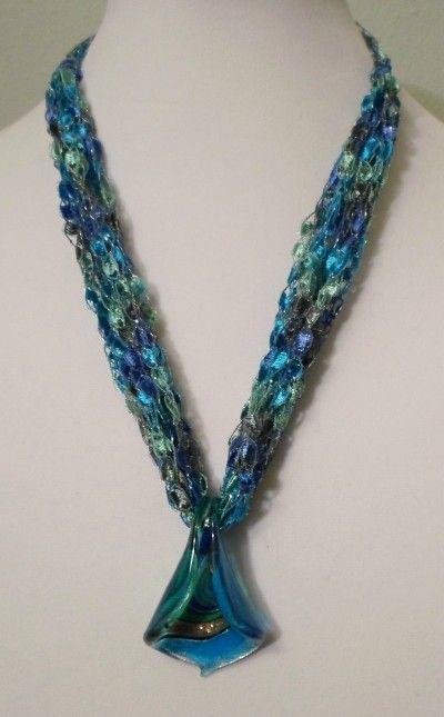 Making Trellis Yarn Jewelry Jewelry Yarn Necklace