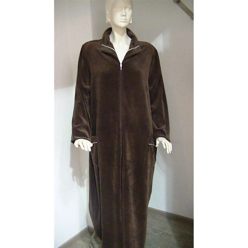 Robe de chambre femme longue zippee