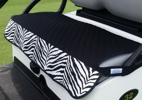 Quilted Zebra Cart Seat Cover Golf Cart Seat Covers