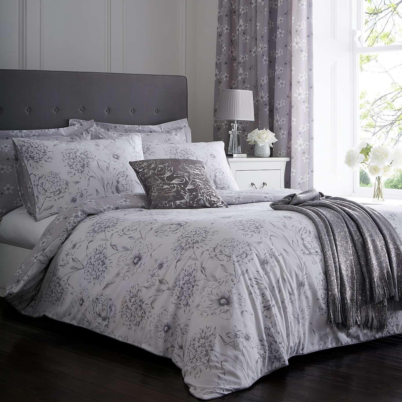 Esther Grey Reversible Duvet Cover and Pillowcase Set