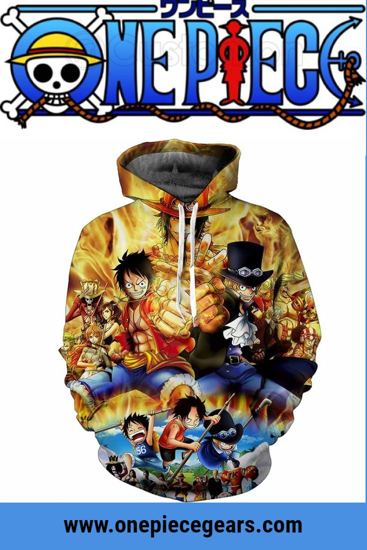 Luffy, Ace, Sabo Hoodie. Monkey D. Luffy Hoodie, Portgas D