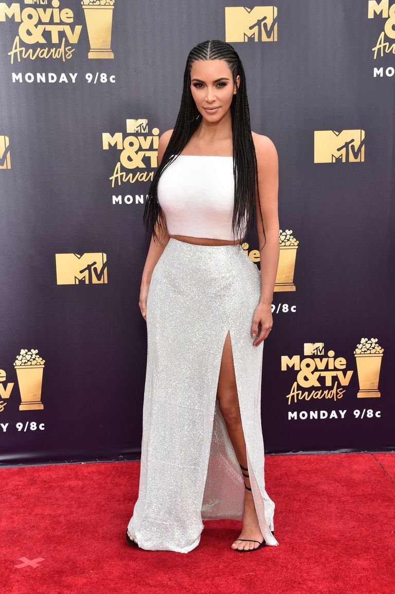 30176b29f8b72 See All the Best Looks from the MTV Movie Awards 2018 Red Carpet Kim  Kardashian West