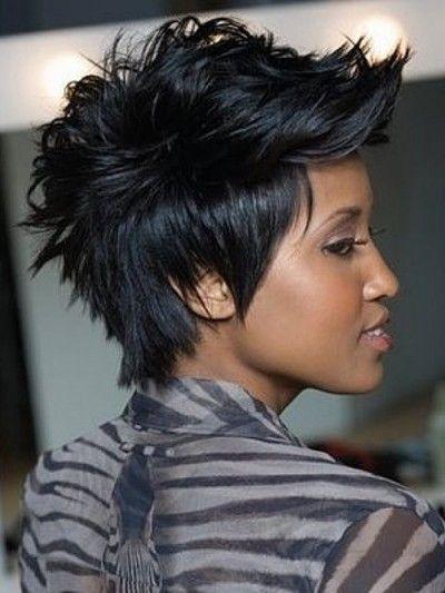 Faux Hawk Spiky Pixie Style For African American Women Short Hair Mohawk Mohawk Hairstyles Short Hair Styles