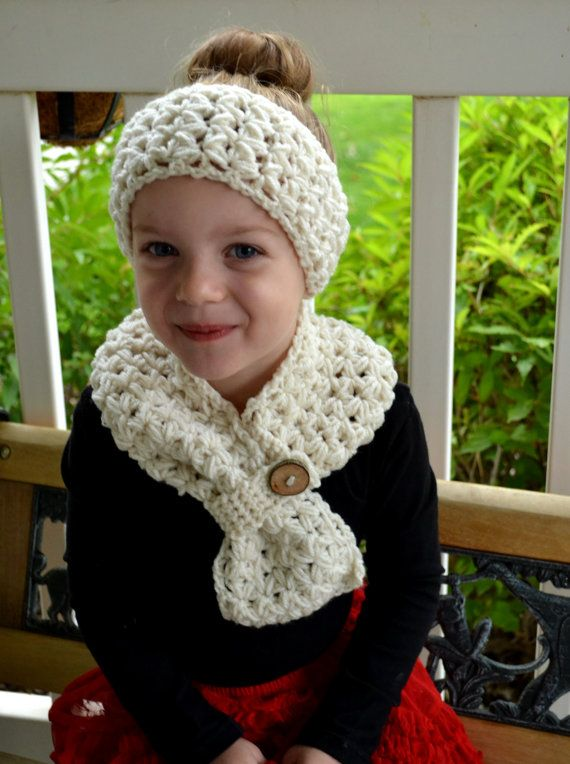 PATTERN Scarf & Headband Set Cross My Heart Crochet | häkeln ...