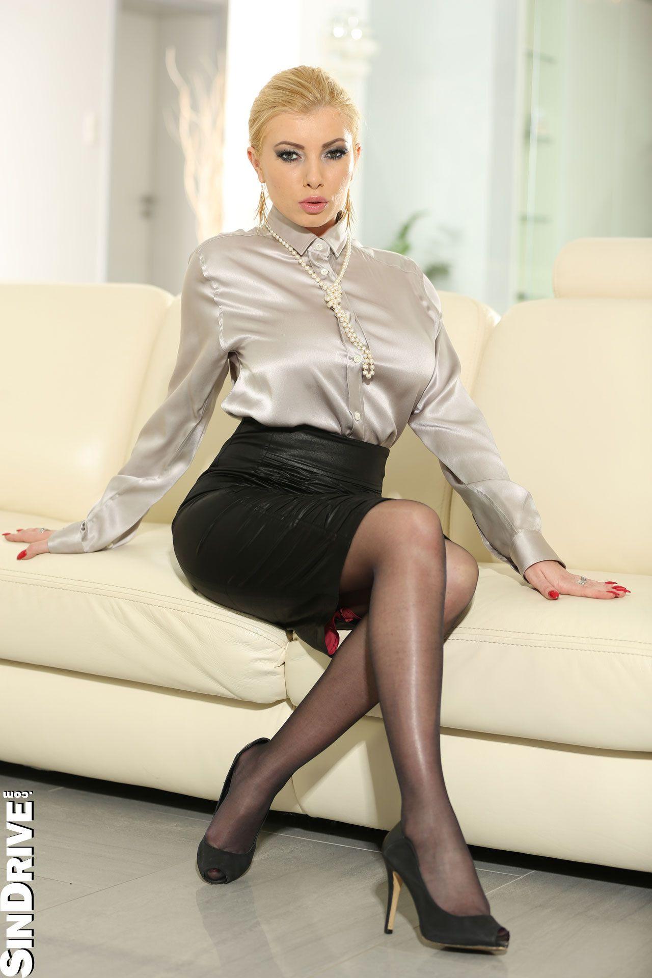 Sexy hot satin blouse