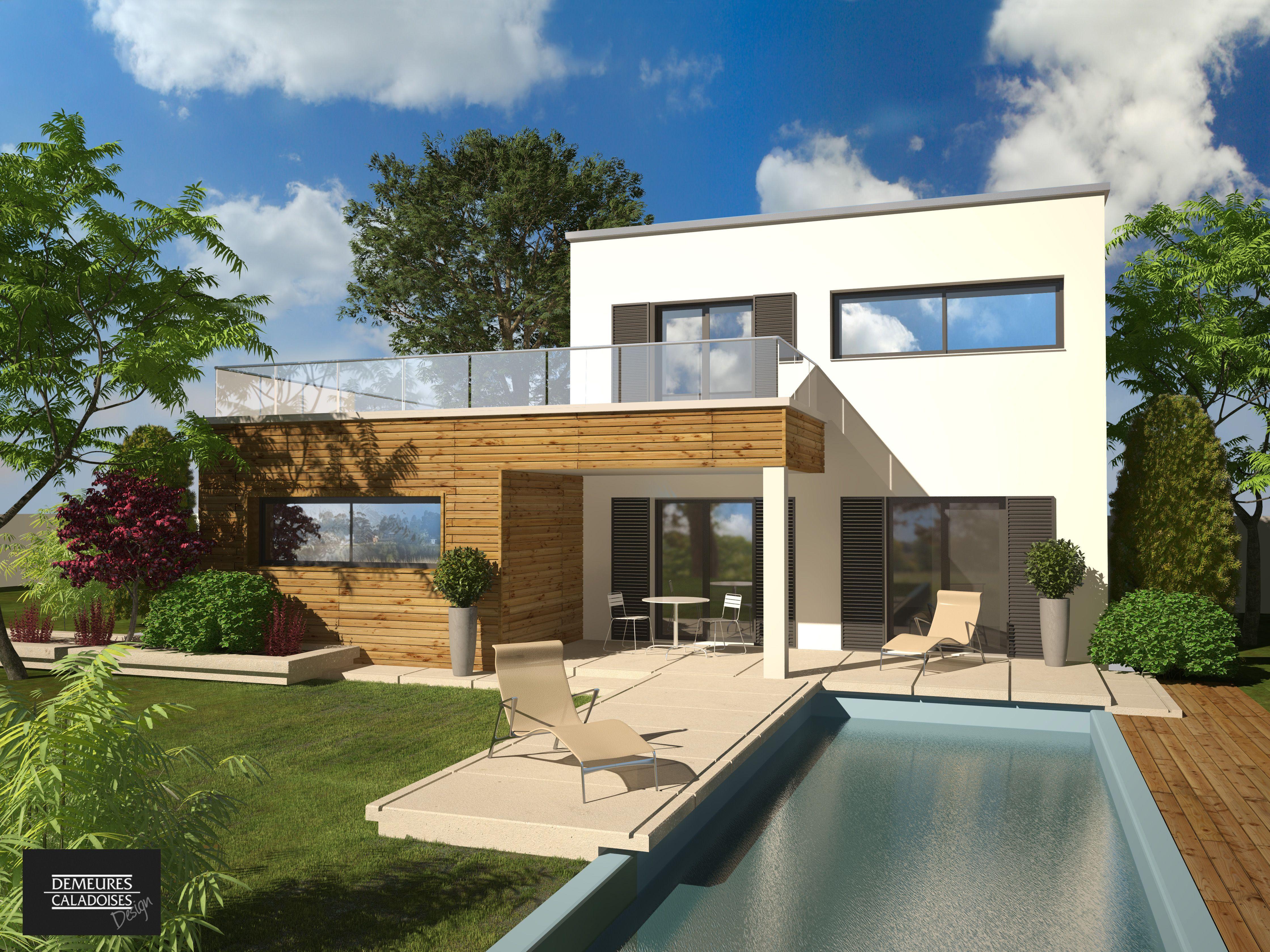 Olbia construction villa demeure design etage for Constructeur maison contemporaine 08
