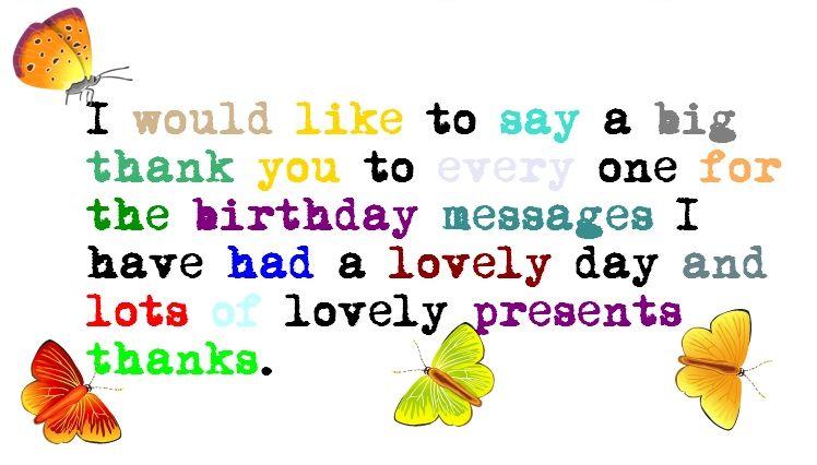 Birthday Thank You Quote Quotes Pinterest Birthdays